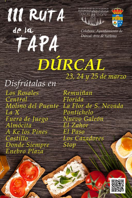 RUTA DE LA TAPA TURISMO DÚRCAL VALLE DE LECRÍN