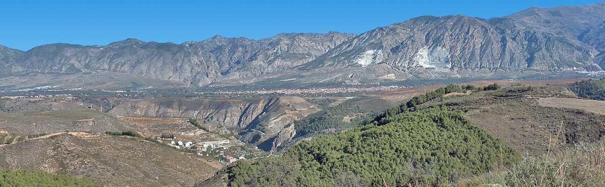 Panorámica Sierra Dúrcal Valle de Lecrín Granada Andalucía